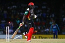 Chris Gayle survives a run-out attempt, St Kitts and Nevis Patriots v Barbados Tridents, CPL 2017, Basseterre, August 18, 2017