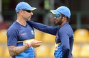 Nic Pothas and Upul Tharanga at a training session, Dambulla, August 19, 2017
