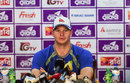 Australia captain Steven Smith addresses a press conference, Dhaka, August 19, 2017