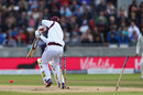 Kemar Roach lost his off stump to Stuart Broad, England v West Indies, 1st Investec Test, Edgbaston, 3rd day, August 19, 2017