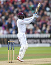 Jermaine Blackwood attacked as West Indies folded around him, England v West Indies, 1st Investec Test, Edgbaston, 3rd day, August 19, 2017