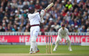 Kyle Hope thumps a pull, England v West Indies, 1st Investec Test, Edgbaston, 3rd day, August 19, 2017