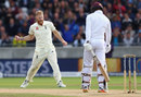 Ben Stokes roars after dismissing Shai Hope, England v West Indies, 1st Investec Test, Edgbaston, 3rd day, August 19, 2017