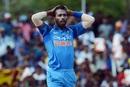 Hardik Pandya reacts after a close call, Sri Lanka v India, 1st ODI, Dambulla, August 20, 2017