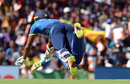 Danushka Gunathilaka dives at the non-striker's end , Sri Lanka v India, 1st ODI, Dambulla, August 20, 2017