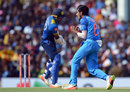 Yuzvendra Chahal screams after making a breakthrough, Sri Lanka v India, 1st ODI, Dambulla, August 20, 2017