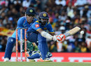 Niroshan Dickwella gets down to play a paddle sweep, Sri Lanka v India, 1st ODI, Dambulla, August 20, 2017