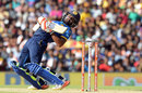 Niroshan Dickwella sways away from a bouncer, Sri Lanka v India, 1st ODI, Dambulla, August 20, 2017