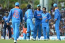 Kedar Jadhav pinned Niroshan Dickwella in front for 64, Sri Lanka v India, 1st ODI, Dambulla, August 20, 2017