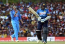Axar Patel celebrates one of his three wickets, Sri Lanka v India, 1st ODI, Dambulla, August 20, 2017