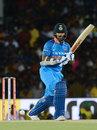 Shikhar Dhawan holds the pose after whipping one through the leg side, Sri Lanka v India, 1st ODI, Dambulla, August 20, 2017