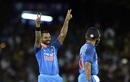 Shikhar Dhawan celebrates his fastest ODI hundred, Sri Lanka v India, 1st ODI, Dambulla, August 20, 2017