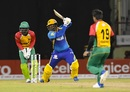 Dwayne Smith carves the ball away, Guyana Amazon Warriors v Barbados Tridents, CPL 2017, Providence, August 20, 2017