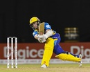 Kane Williamson makes room to slap the ball, Guyana Amazon Warriors v Barbados Tridents, CPL 2017, Providence, August 20, 2017