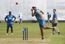 Ashton Agar bowls from wide of the crease in training, Dhaka, August 20, 2017