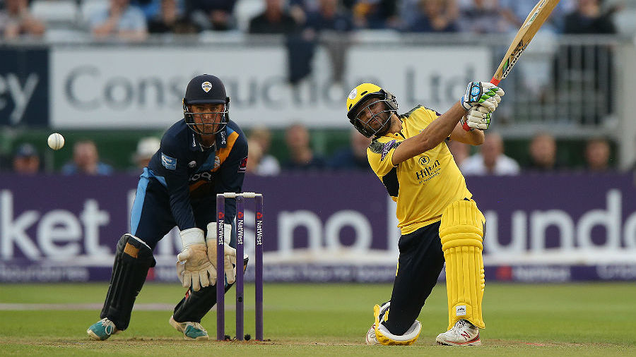 Shahid Afridi hits out during his maiden T20 hundred