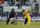 Shahid Afridi hits out during his maiden T20 hundred, Derbyshire v Hampshire, 1st quarter-final, NatWest T20 Blast, Derby, August 22, 2017