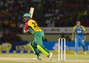 Sohail Tanvir set up Warriors' chase with 38, including the wicket of Darren Sammy, Guyana Amazon Warriors v St Lucia Stars, CPL 2017, Providence, August 22, 2017