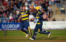 Craig Meschede took out Leicestershire's middle order, Glamorgan v Leicestershire, NatWest T20 Blast, Quarter-final, Cardiff, August 23, 2017