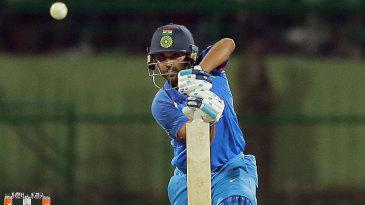 Bhuvneshwar Kumar posted his maiden ODI half-century and lead India's chase