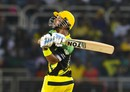 Lendl Simmons smashed three sixes in his 19-ball 32, Jamaica Tallawahs v Trinbago Knight Riders, CPL 2017, Kingston, August 26, 2017