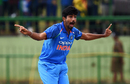 Jasprit Bumrah appeals, Sri Lanka v India, 3rd ODI, Pallekele, August 27, 2017