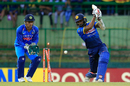Axar Patel knocks back Chamara Kapugedera's leg stump, Sri Lanka v India, 3rd ODI, Pallekele, August 27, 2017