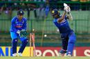 Axar Patel knocks back Chamara Kapugedera's leg stump, Sri Lanka v India, 3rd ODI, Pallekele, August 27, 2017