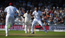 Shannon Gabriel was rewarded for a good spell, although it was tight for a no-ball, England v West Indies, 2nd Investec Test, Headingley, 3rd day, August 27, 2017