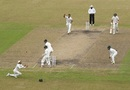 Matt Renshaw is caught by Soumya Sarkar at first slip, Bangladesh v Australia, 1st Test, Mirpur, 2nd day, August 28, 2017