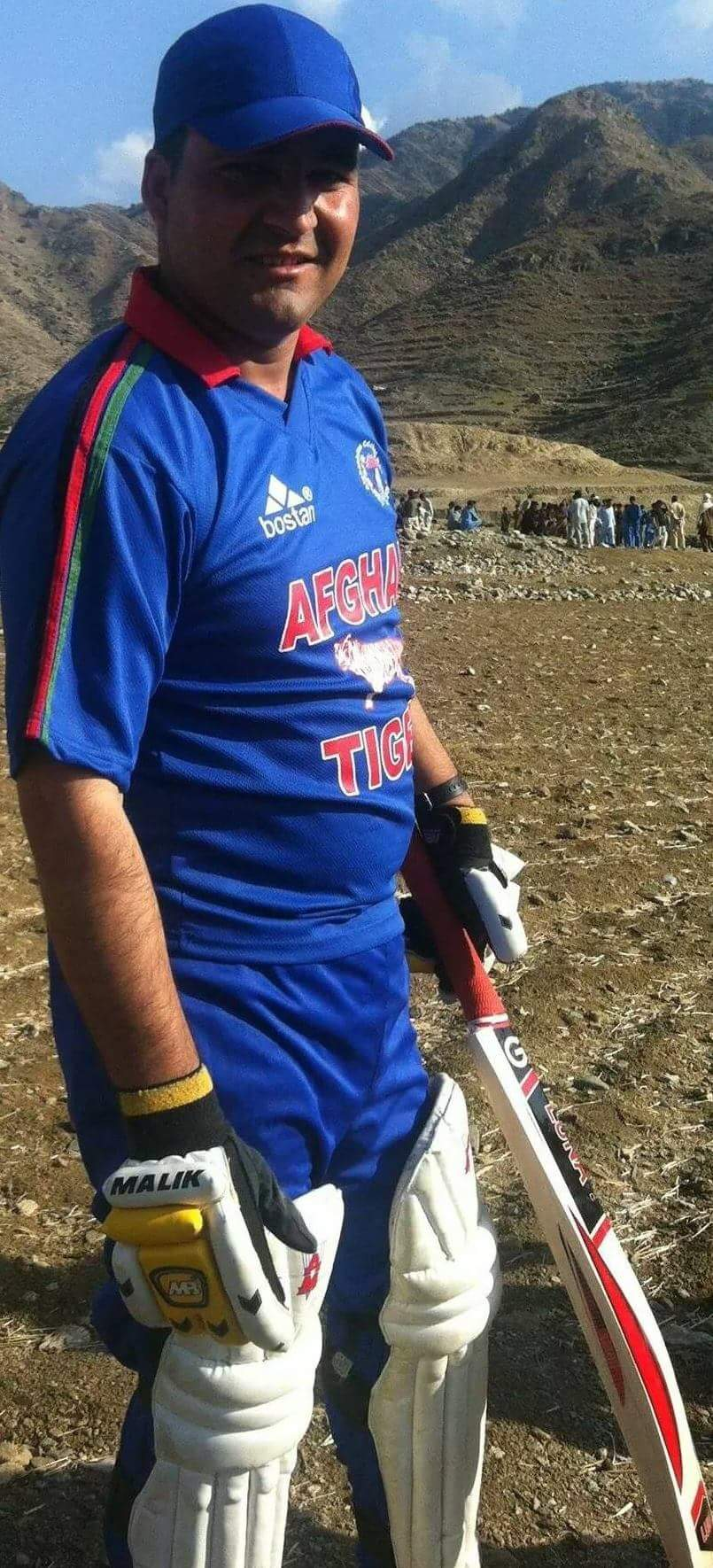 Archi in his Afghan Tigers cricket kit