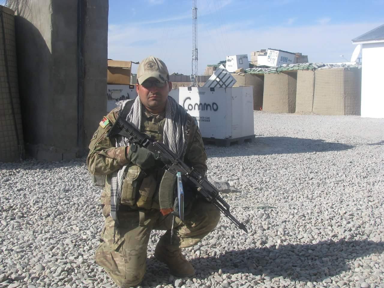 Archi in his US Army uniform