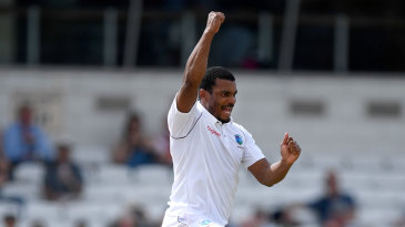 Shannon Gabriel worked hard for the wicket of Joe Root