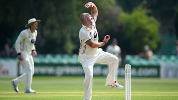 Darren Stevens gets to the bowling crease