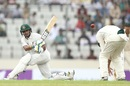 Sabbir Rahman sweeps over short leg, Bangladesh v Australia, 1st Test, Mirpur, 3rd day, August 29, 2017