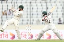 Mehidy Hasan lays into a cut, Bangladesh v Australia, 1st Test, Mirpur, 3rd day, August 29, 2017