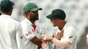 Tempers flared between David Warner and the Bangladesh fielders