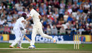 Stuart Broad deflected a dropped catch into the stumps to run out Kyle Hope, England v West Indies, 2nd Investec Test, Headingley, 5th day, August 29, 2017