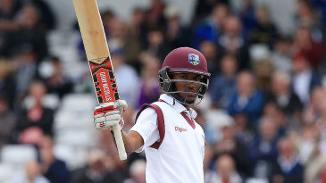 Kraigg Brathwaite reached fifty for the second time in the match