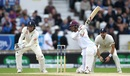 Roston Chase slashes through the off side, England v West Indies, 2nd Investec Test, Headingley, 5th day, August 29, 2017