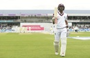Kraigg Brathwaite acknowledges the cheers as he walks off for 95, England v West Indies, 2nd Investec Test, Headingley, 5th day, August 29, 2017