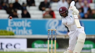 Shai Hope became the first man to score two centuries in a first-class match at Headingley