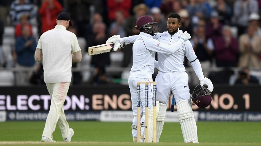 Shai Hope took West Indies closer to a win with his second century of the match