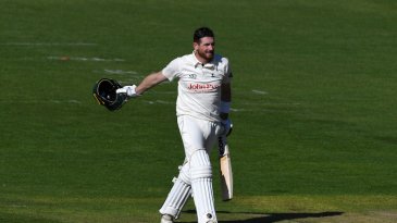 Riki Wessels celebrates his hundred