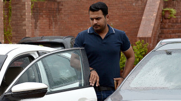 Sharjeel Khan arrives to attend an anti-corruption tribunal meeting in Lahore