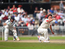 Ryan McLaren appeals for the wicket of Ian Bell, Lancashire v Warwickshire, Specsavers County Championship, Division One, Old Trafford, 3rd day, August 30, 2017