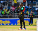 Sheldon Cottrell looks on in disappointment, Jamaica Tallawahs v St Kitts and Nevis Patriots, CPL 2017, Kingston, August 30, 2017