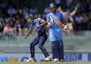 VIshwa Fernando started his spell with a wicket-maiden, Sri Lanka v India, 4th ODI, Colombo, August 31, 2017
