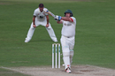 Mark Cosgrove played an unusual one-over cameo, Kent v Leicestershire, Specsavers Championship Division Two, Canterbury, August 31, 2017