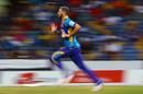 Wayne Parnell runs in to bowl, Barbados Tridents v St Lucia Stars, CPL 2017, Bridgetown, August 31, 2017
